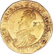 1 Unite - Charles I (group C; 3rd bust) – obverse