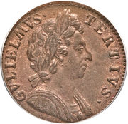 1 Farthing - William III (1st & 2nd issues) – obverse