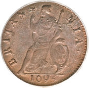 1 Farthing - William III (1st & 2nd issues) – reverse