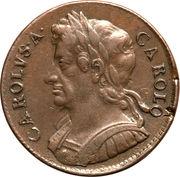 ½ Penny - Charles II – obverse