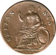 ½ Penny - Charles II – reverse