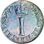 1 Penny - William III (incl. Maundy) – reverse
