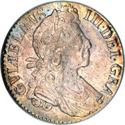 1 Shilling - William III (5th bust) – obverse