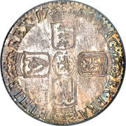 1 Shilling - William III (5th bust) – reverse