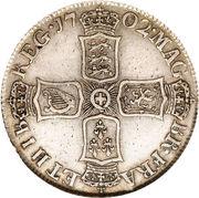 1 Shilling - Anne (1st bust) – reverse