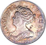1 Shilling - Anne (2nd bust) – obverse