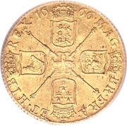 1 Guinea - Charles II (3rd bust) – reverse