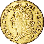 1 Guinea - James II (1st bust) – obverse