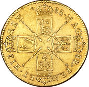 5 Guineas - James II (1st bust) – reverse
