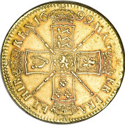 5 Guineas - William III (1st bust) – reverse
