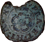 1 Farthing - Charles I (Rose Farthing; type 4b) – reverse