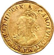1 Unite - Charles I (group E; 5th bust) – obverse