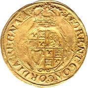 1 Unite - Charles I (group E; 5th bust) – reverse
