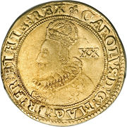 1 Unite - Charles I (group A; 1st bust) – obverse