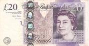 20 Pounds - Elizabeth II (Adam Smith; paper) – obverse