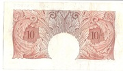 10 Shillings (Series A; Britannia, with thread) -  reverse