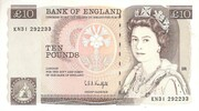 10 Pounds - Elizabeth II (Series D; Florence Nightingale) -  obverse