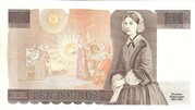 10 Pounds - Elizabeth II (Series D; Florence Nightingale) -  reverse