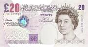 20 Pounds - Elizabeth II (Sir Edward Elgar) – obverse