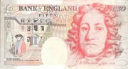 50 Pounds - Elizabeth II (Series E; Sir John Houblon) – reverse