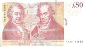 50 Pounds - Elizabeth II (Matthew Boulton & James Watt; paper) – reverse