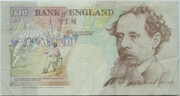 10 Pounds - Elizabeth II (Series E; Charles Dickens, two '£10') – reverse