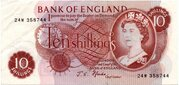 10 Shillings - Elizabeth II (Series C; portrait) – obverse
