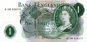 1 Pound - Elizabeth II (Series C; portrait) – obverse