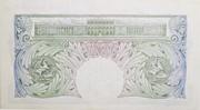 1 Pound (Series A; Britannia, without thread) -  reverse