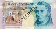 5 Pounds - Elizabeth II (Series E; George Stephenson, darker) – reverse