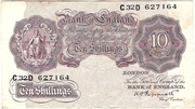 10 Shillings (Emergency Wartime issue; with thread) – obverse