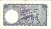 5 Pounds (Series B; Helmeted Britannia, blue) -  reverse