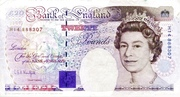 20 Pounds - Elizabeth II (Series E; Michael Faraday, two '£20') – obverse