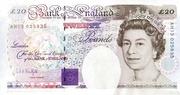 20 Pounds - Elizabeth II (Series E; Michael Faraday, four '£20') – obverse