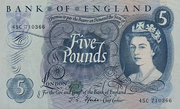 5 Pounds - Elizabeth II (Series C; portrait) – obverse