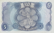 5 Pounds - Elizabeth II (Series C; portrait) – reverse