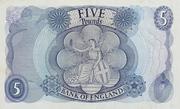 5 Pounds - Elizabeth II (Series C; portrait) -  reverse