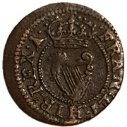 1 Farthing - Charles I (Maltravers issue; types 1-3) – reverse