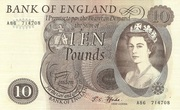 10 Pounds - Elizabeth II (Series C; portrait) – obverse