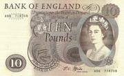 10 Pounds - Elizabeth II (Series C; portrait) – obverse