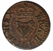 1 Farthing - Charles I (Richmond issue;  type 2) – reverse