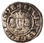 ½ Penny - Edward I (London mint; class 4e) – obverse