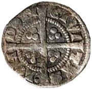 ½ Penny - Edward I (London mint; class 4e) – reverse