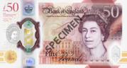 50 Pounds - Elizabeth II (Alan Turing; polymer) – obverse