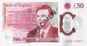 50 Pounds - Elizabeth II (Alan Turing; polymer) – reverse