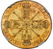 5 Guineas - Anne (pre-union shields; VIGO) – reverse
