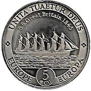5 ECU (SS Great Britain) Mule – reverse