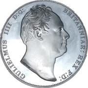 1 Crown - William IV (Three Graces) – obverse