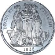 1 Crown - William IV (Three Graces) – reverse