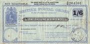 1 Shilling & 6 Pence (Postal Order) – obverse